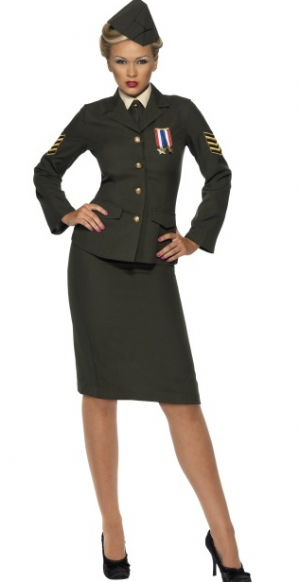 WW2 Wartime Officer Plus Size Costume